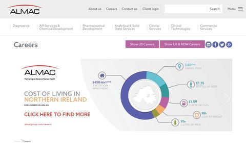 Screenshot of Jobs Page almacgroup.com - Careers - Almac - captured May 29, 2017