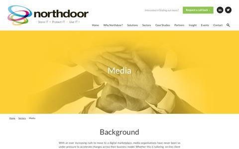 Screenshot of Press Page northdoor.co.uk - Media - NorthdoorNorthdoor - captured Feb. 15, 2016