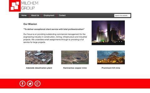 Screenshot of Home Page milchem.com.au - Milchem Group Engineering Consultants | Construction Management Consultants - captured Feb. 22, 2016