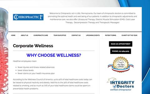Corporate Wellness | Chiropractic 1st