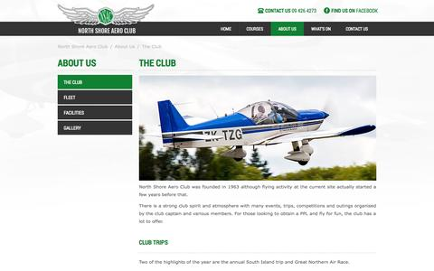 Screenshot of About Page nsac.co.nz - North Shore Aero - captured Oct. 9, 2014