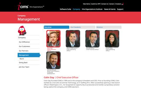 Screenshot of Team Page icims.com - Applicant Tracker & ATS Tracking System Experts and Leaders | iCIMS - captured June 16, 2015
