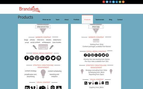 Screenshot of Products Page brandalism.com.au - Products - Brandalism - captured Nov. 3, 2014