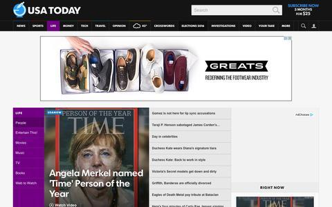Screenshot of Team Page usatoday.com - Celebrity Photos, Videos and Interviews - USATODAY.com - captured Dec. 9, 2015
