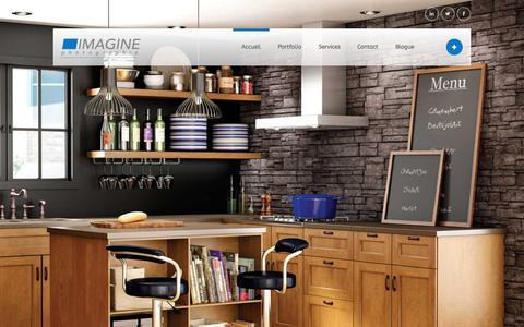 Screenshot of Home Page imaginestudio.ca - Photographe commercial - Montréal - captured Feb. 10, 2016