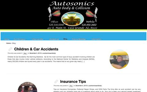 Screenshot of Blog autosonicsautobody.com - Blog | - captured Oct. 4, 2014