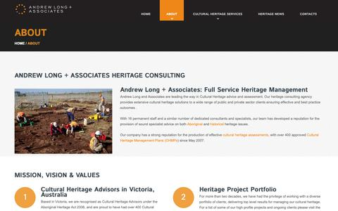 Screenshot of About Page alassoc.com.au - Heritage Consulting Agency - Andrew Long + Associates - captured Oct. 3, 2018