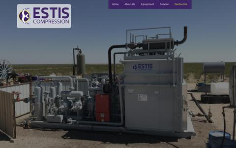 Screenshot of Contact Page estiscompression.com - About Us - Estis Compression: Natural Gas Compressor Rental - captured July 21, 2018