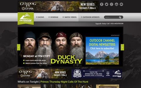 Screenshot of Home Page outdoorchannel.com - Outdoor Channel - captured Feb. 4, 2016