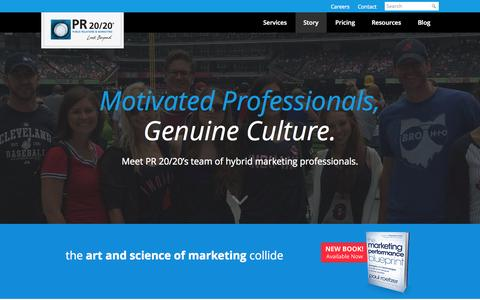 Screenshot of Team Page pr2020.com - Meet PR 20/20's Team of Hybrid Marketing Professionals - captured Oct. 28, 2014