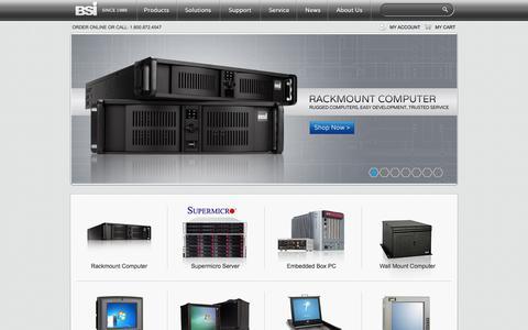 Screenshot of Home Page bsicomputer.com - Rackmount PC | Rackmount Server | Panel PC | Supermicro Server | BSIComputer.com - captured Oct. 5, 2014