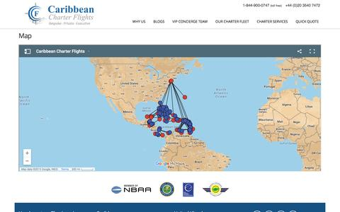 Screenshot of Maps & Directions Page caribbean-charter-flights.com - Charter Flights | Caribbean Flights | Air Charter Companies - captured Dec. 7, 2015
