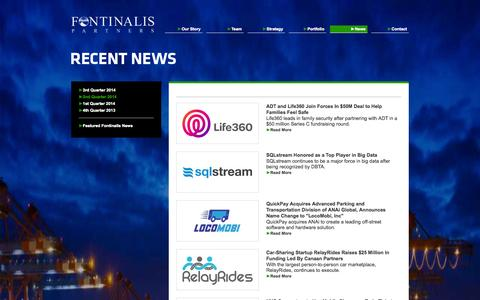 Screenshot of Press Page fontinalis.com - News - 2nd Quarter 2014 - Fontinalis Partners - captured Oct. 6, 2014