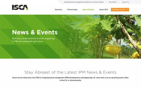 Screenshot of Press Page iscatech.com - Latest News & Events In IPM And Sustainable Agriculture - captured Oct. 5, 2017