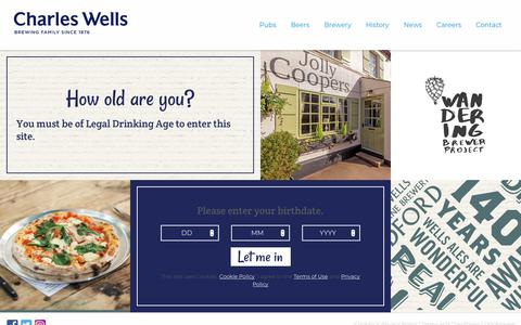 Screenshot of Terms Page charleswellsltd.co.uk - Terms & Conditions - Charles Wells - captured Sept. 27, 2018
