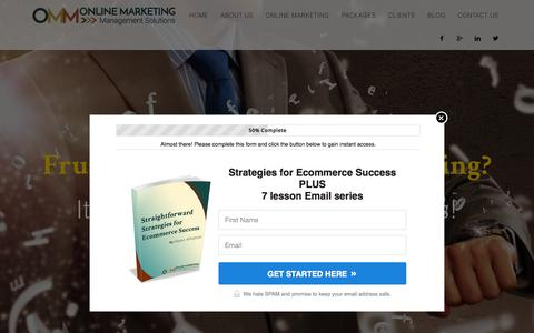 Screenshot of Home Page ommsolutions.com - Online Marketing Management, Infusionsoft Sales and Marketing Expert, Social Media Consultant - ommsolutions.com - OMM solutions - captured Aug. 4, 2015