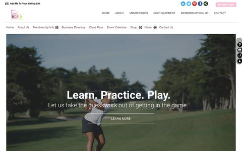 Screenshot of Home Page blackgirlsgolf.net - Home - Black Girls Golf - captured Aug. 2, 2018
