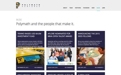 Screenshot of Blog polymathv.com - Blog - Polymath - captured Nov. 26, 2015