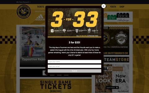 Screenshot of Home Page riverhounds.com - Pittsburgh Riverhounds SC - USL - captured Sept. 28, 2018