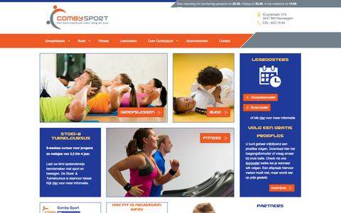 Screenshot of Home Page combysport.nl - Home - captured Jan. 26, 2015