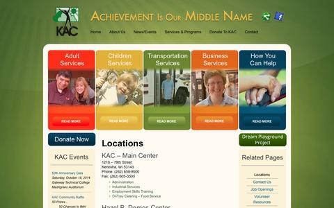 Screenshot of Locations Page thekac.com - Locations  | thekac.com - captured Oct. 6, 2014