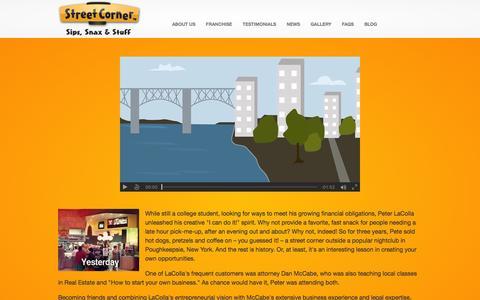 Screenshot of About Page streetcorner.com - About Us - Street Corner Franchise ™Street Corner Franchise ™ - captured Dec. 16, 2016