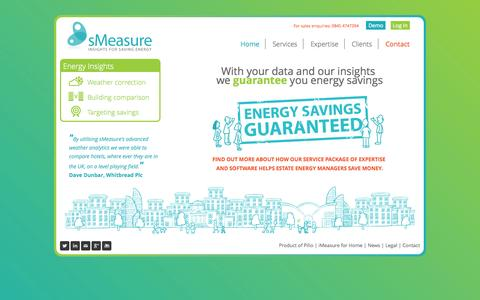 Screenshot of Home Page smeasure.com - sMeasure - sMeasure building energy analysis - captured Oct. 7, 2014