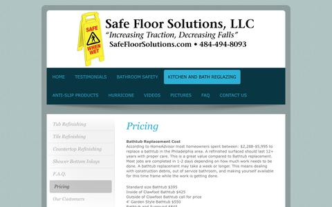 Screenshot of Pricing Page safefloorsolutions.com - Safe Floor Solutions, LLC - Pricing - captured Nov. 12, 2018