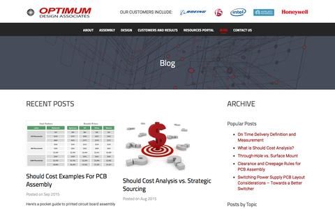 Screenshot of Blog optimumdesign.com - Optimum Design Associates Blog - captured April 4, 2016