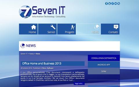 Screenshot of Press Page sevenit.it - News Archivi - Seven IT - captured Nov. 4, 2014
