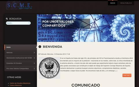 Screenshot of Home Page scme.org - SCME - Supremo Consejo Masónico de España - captured June 3, 2016