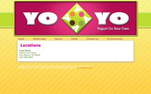 Screenshot of Locations Page yogurtonyourown.com - Locations | Yogurt On Your Own - captured Oct. 20, 2018