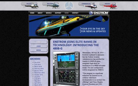 Screenshot of Press Page enstromhelicopter.com - News «  Enstrom Helicopter Corporation - captured Oct. 2, 2014