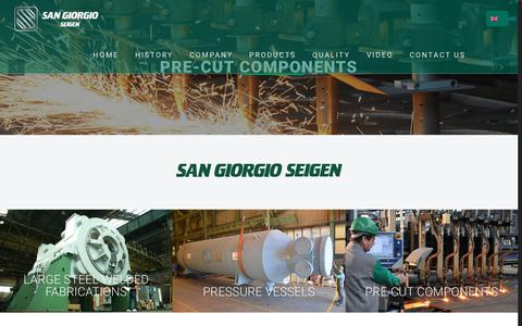 Screenshot of Products Page sg-seigen.com - PRODUCTS – SAN GIORGIO SEIGEN - captured Sept. 30, 2018