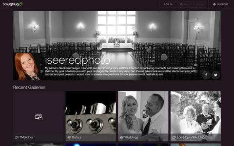 Screenshot of Home Page iseeredphoto.com - iseeredphoto - captured Sept. 30, 2018