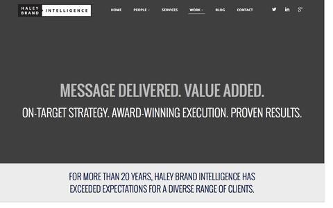 Screenshot of Case Studies Page haleybrand.com - Case Studies | Haley Brand Intelligence - captured Jan. 24, 2016