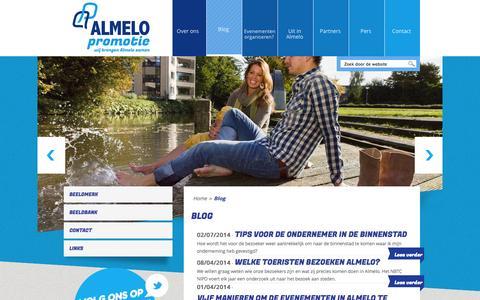 Screenshot of Blog almelopromotie.nl - Blog Amelo - Almelo Promotie - captured Sept. 30, 2014