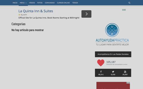 Screenshot of Menu Page autoayudapractica.com - Categorias Archives - AutoayudaPractica.com - captured Sept. 18, 2014