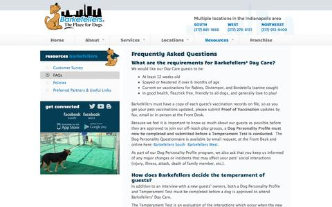 Screenshot of FAQ Page barkefellers.com - Frequently Asked Questions | Indianapolis | Barkefellers - captured Sept. 30, 2014
