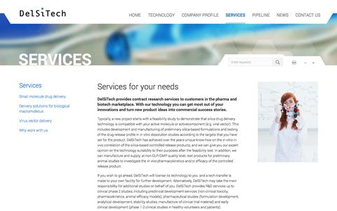 Screenshot of Services Page delsitech.com - Services for your needs | DelSiTech Oy - captured Oct. 5, 2014