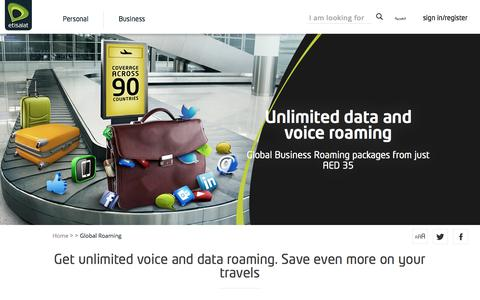 Etisalat UAE | Global Roaming