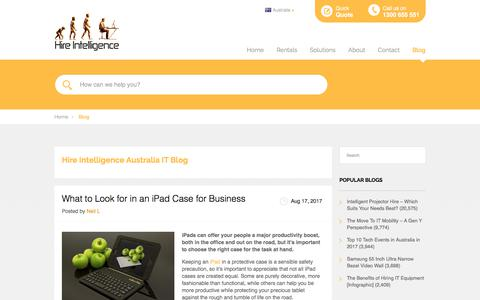Screenshot of Blog hire-intelligence.com.au - IT Blog | Hire Intelligence Australia - captured Aug. 20, 2017