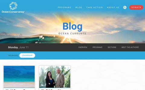 Screenshot of Team Page oceanconservancy.org - leadership Archives - Ocean Conservancy - captured June 12, 2018
