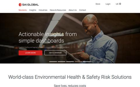 Environment health and safety software EHS - SAI Global