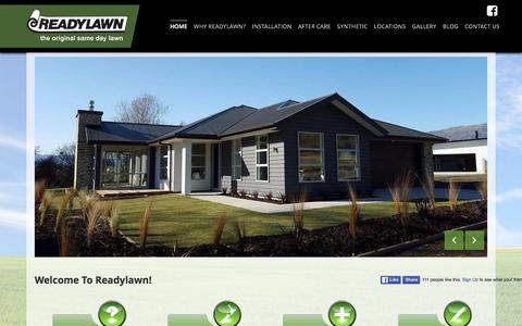 Screenshot of Home Page readylawn.co.nz - Readylawn - Roll Out Lawns, Instant Lawn Turf New Zealand - captured March 3, 2016