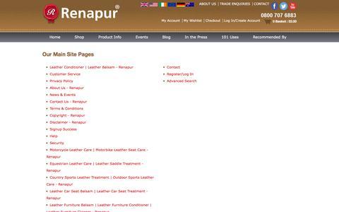 Screenshot of Site Map Page renapur.com - Sitemap - captured Nov. 9, 2017