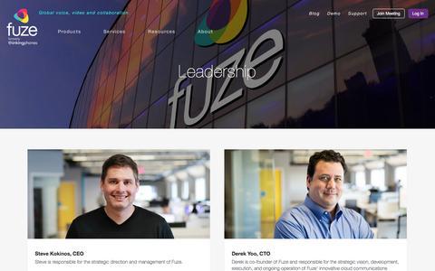 Screenshot of Team Page fuze.com - Leadership | Fuze - captured March 19, 2016
