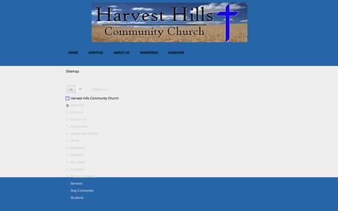 Screenshot of Site Map Page google.com - Sitemap - Harvest Hills Community Church - captured April 13, 2017