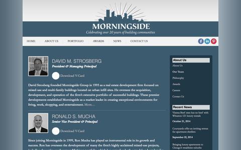 Screenshot of Team Page morningsideusa.com - Our Team | Morningside USA - captured Oct. 26, 2014