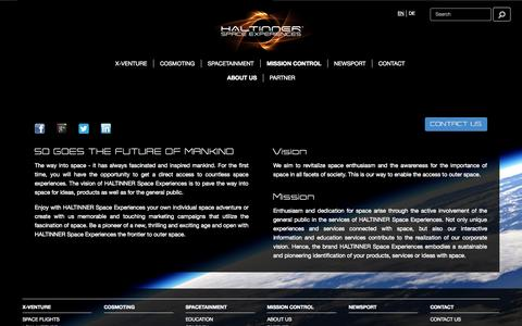 Screenshot of About Page space-experiences.com - About us | HALTINNER Space Experiences - captured Oct. 1, 2014